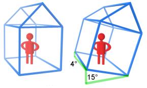 Schiefer Raum Grafik